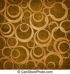 Abstract brown background with circles. Soft furnishings.