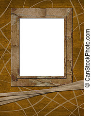 Abstract frame for photo or  greeting with ribbons
