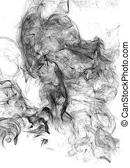Black Smoke - Smoke on white background