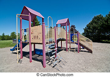 Park with Playground Equipment