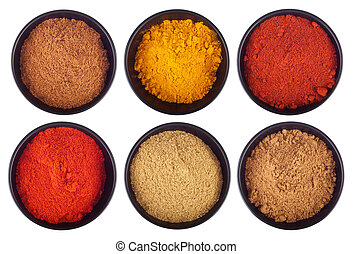 Indian spices - collection of indian spices (cumin,...
