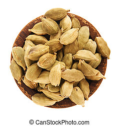 Cloves - indian cloves seeds on a small vintage wooden plate...