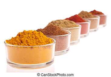 Indian spices - collection of indian spices cumin,...