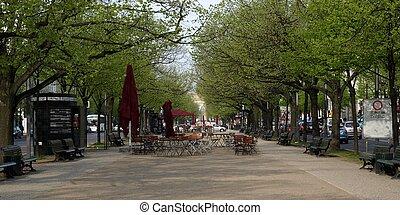 Unter den Linden, Berlin - Unter den Linden boulevard in...