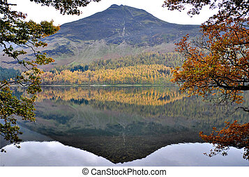 agua, Montaña, reflexión, distrito,  Cumbria