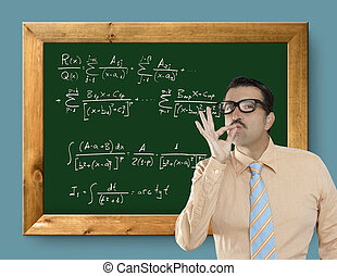 mathematical formula genius nerd geek easy resolve positive...