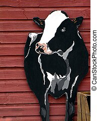 Vermont Cow - Artistic billboard of country cow attached to...