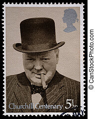 Winston Churchill Postage Stamp - UNITED KINGDOM - CIRCA...