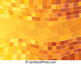 Vector Abstract Orange Tile Background