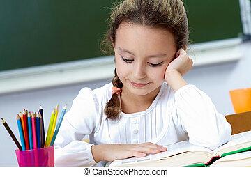 Reading pupil