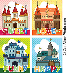 cartoon castle card
