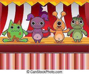 cartoon Monster card