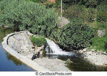 Fiume - fiume bisenzio a Prato