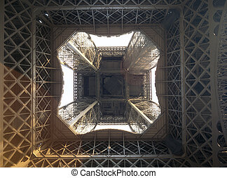 Abstract view of Eiffel Tower.