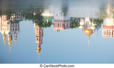 Reflection of Novodevichy Convent d - Novodevichy Convent in...