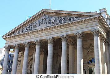 Royal Exchange in London - The facade of the Royal Exchange...
