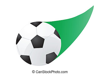 flying soccer ball - Vector illustration of flying soccer...