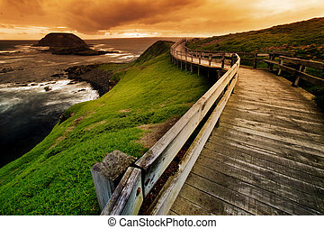 Coastal Walkway - Boardwalk on Australian Coastline