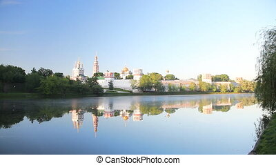 Novodevichy Convent during sunrise - Novodevichy Convent in...