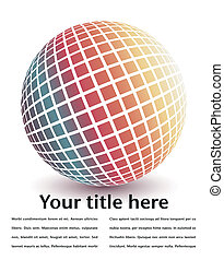 Multicolored globe design - Multicolored globe design with...
