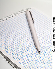 Pen and notebook - pen and notebook with space for...
