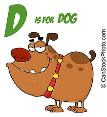 Dog With Letter D