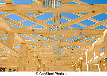 New home construction framing - New residential construction...
