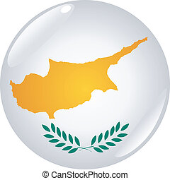 button in colors of Cyprus