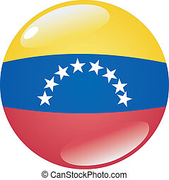 button in colors of Venezuela