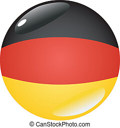 button in colors of Germany