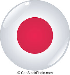 button in colors of Japan