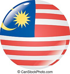 button in colors of Malaysia
