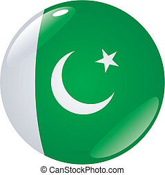 button in colors of Pakistan