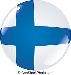 button in colors of Finland