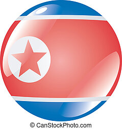 button in colors of North Korea