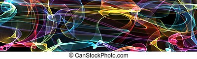 panoramic abstract 3 - abstract art used for background or...