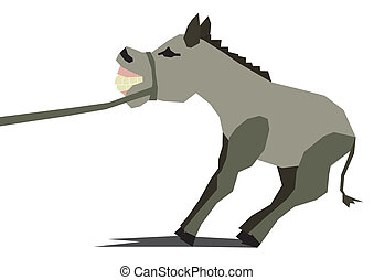 lazy angry donkey - gray illustration dummy