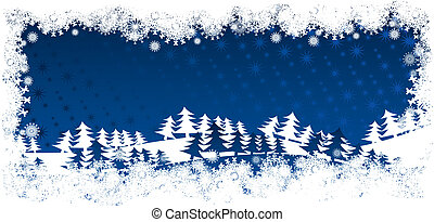 Card vector winter landscape