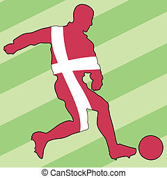 football colors of Denmark