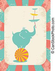 elephant on the ball