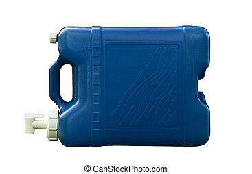 old water jug - old five gallon water jug with clipping path...