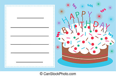 celebration or invitation card