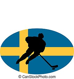 Hockey colors of Sweden