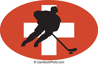 Hockey colors of Switzerland
