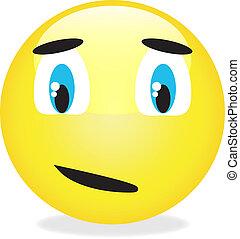 Vector smiley yellow emoticon.