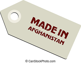 vector label Made in Afghanistan