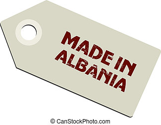 vector label Made in Albania