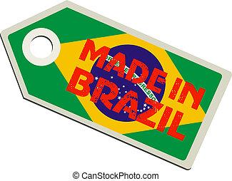 vector label Made in Brazil