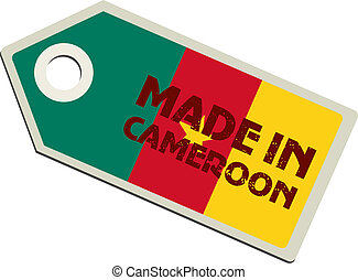 vector label Made in Cameroon