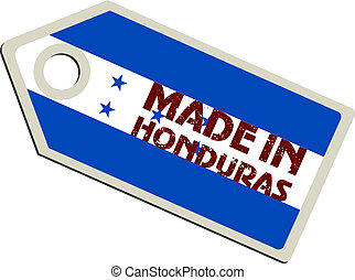 vector label Made in Honduras